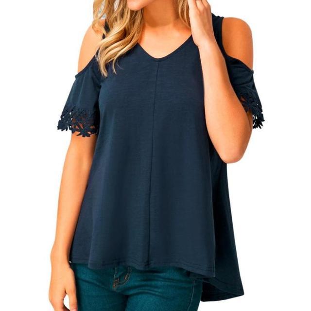 5f7e8bea8 Algodón Sexy vendaje sin tirantes blusa camisa para las mujeres hombro  manga Lace Up mujeres Tops