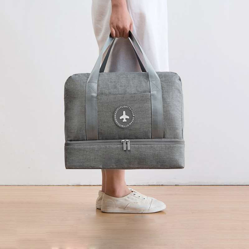Stylish And Portable Packaging Storage Bag Upper And Lower Double-layer Design Independent Shoe Storage Travel Accessories