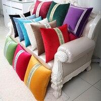 Luxury Patchwork Lace Sofa Cushion Cover 60x60cm 50x50cm 43x43cm Office Chair Europe style Decorative Velvet Vintage Pillow Case