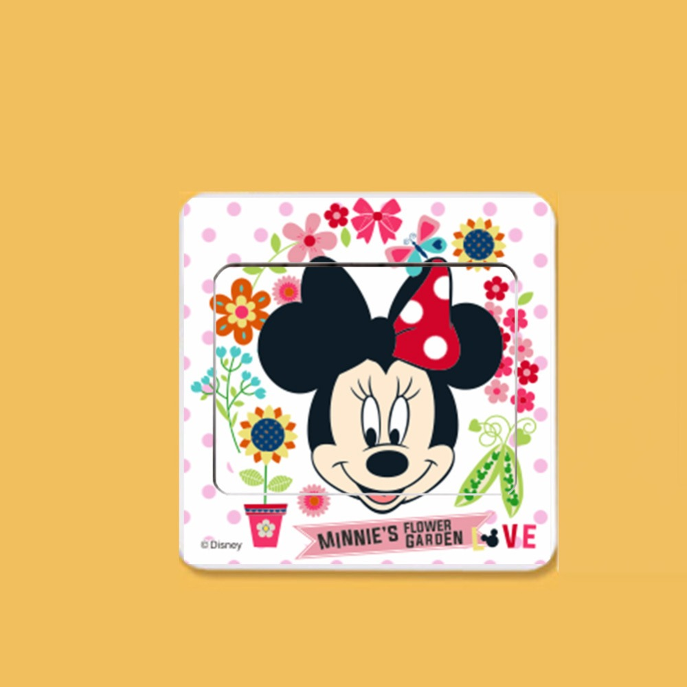6pcs Cartoon Mickey Mouse Minnie mouse Switch Panel Stickers Home ...