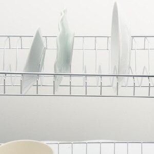 Image 4 - 2 段食器乾燥ラックホルダーバスケットメッキ鉄ホーム洗濯偉大なキッチンシンク水切り乾燥ラックオーガナイザー