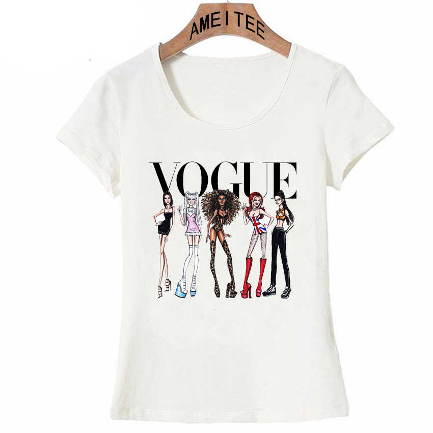 Hipster Cool Vogue Spice Meisjes T-shirt Zomer Mode Vrouwen T-shirt Grappig Casual Maiden Tops Vrouw Leuke Tees