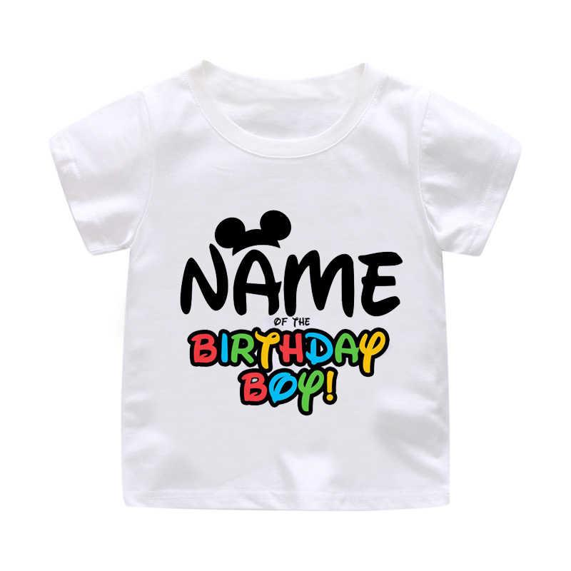 Happy Birthday Boy Girl Universal Letter Best Present Child Round Neck Shirt Cotton T