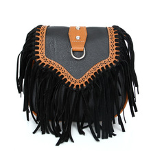 DCOS Fashion Women Faux Suede Fringe Tassels Crossbody Bag Shoulder Bags Handbags Female