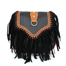 DCOS Fashion Women Faux Suede Fringe Tassels Crossbody Bag Shoulder Bags Handbags Female