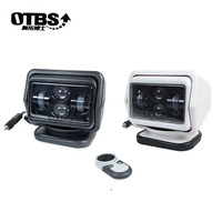 OTBS 60W Led Remote Control Search Light 360 Degree Boat Camping Magnetic Base Spot Work Light Boat Truck SUV 12V 24V