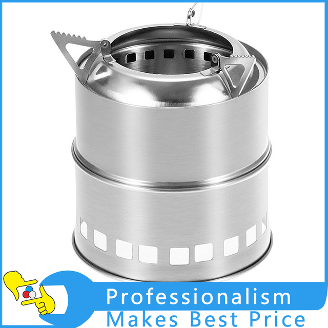 Hot Portable Outdoor Wood Stove Camping Stove twigs Solidified alcohol stove stainless steel For Outdoor Cooking Picnic