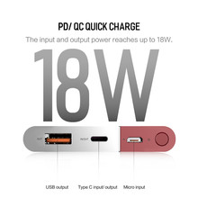 20000mAh PD QC3.0 2.0 Quick Charge Powerbank Portable External Battery Charger for iphone X Samsung Xiaomi