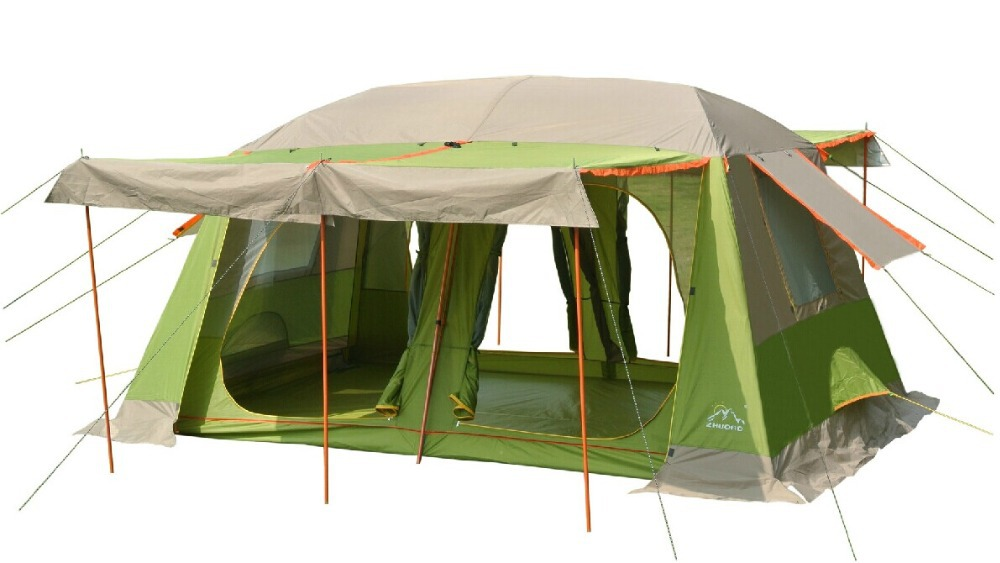 Large military tents8-10 people outdoor camping tent 2 rooms outdoor military camping tent for Family travel 2 people portable parachute hammock outdoor survival camping hammocks garden leisure travel double hanging swing 2 6m 1 4m 3m 2m