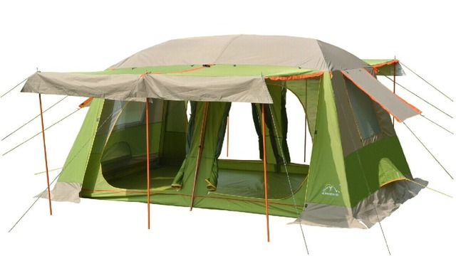 Large military tents8-10 people outdoor c&ing tent 2 rooms outdoor military c&ing tent for  sc 1 st  AliExpress.com & Large military tents8 10 people outdoor camping tent 2 rooms ...