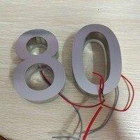 Custom Factory Waterproof Stainless Steel Backlit Led House Number Letters