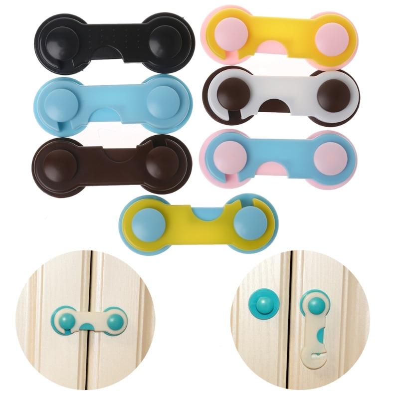 4 Pcs Baby Safety Lock Doors Drawers Wardrobe Toddler Baby Children Protection Safety Plastic Lock