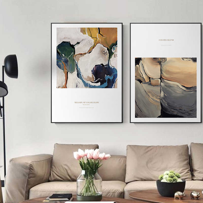 Modern Abstract Painting Wall Art Posters And Prints Canvas Painting Nordic Wall Pictures For Living Room