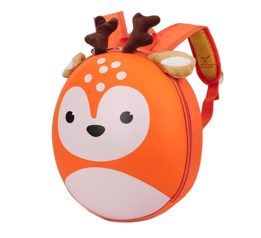 Maison Fabre Baby Boys Girls Kids Deer Pattern Animals Christmas Backpack Toddler School Bag 808#30