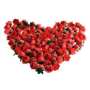 SDFC 100 x Tete Fleur Artificielle Roses Deco DIY Mariage Bapteme ROUGE