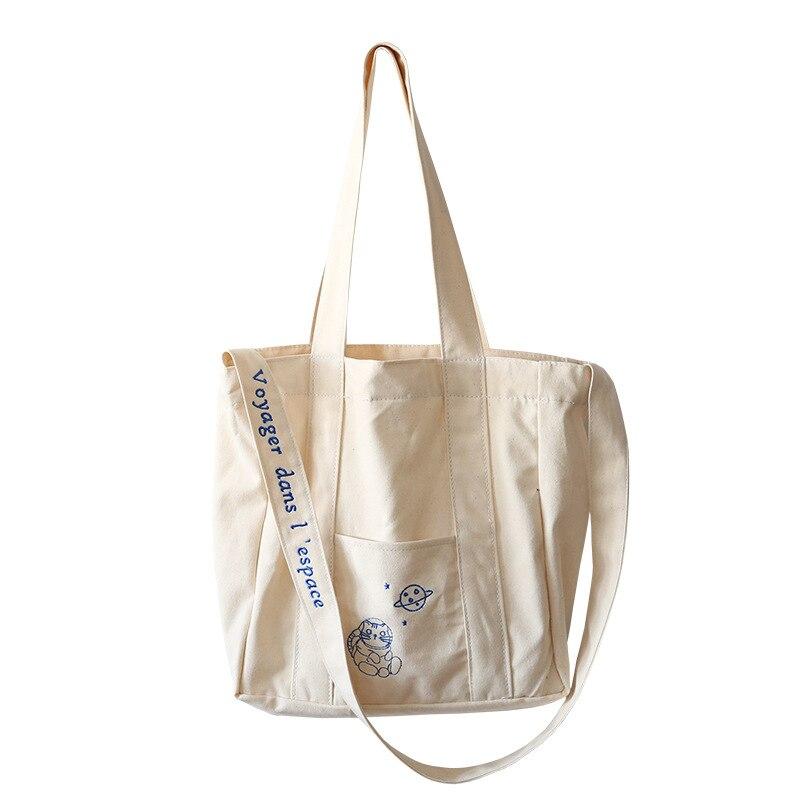 Canvas Hobo or Shoulder Bag Cat Design Cotton Navy