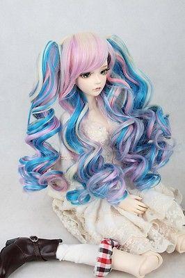 [wamami] 97# Colorful Long Wig/ 2*Clip 30-40cm For 1/4 MSD AOD DOD DZ BJD Dollfie 7-8 [wamami] 97 white