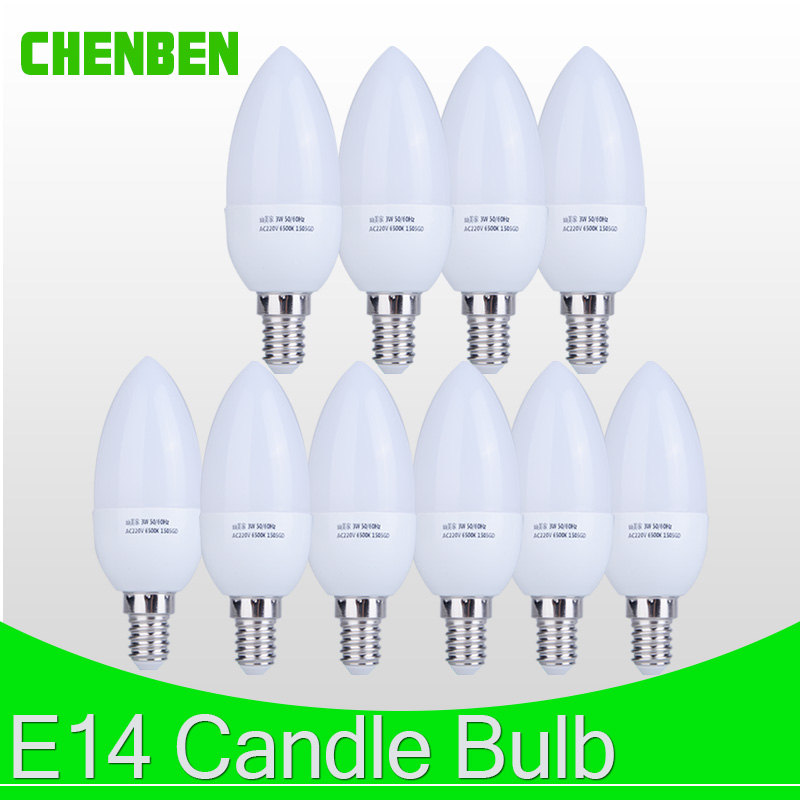 10pcs LED Candle light Bulb E14 Milky White Energy Saving Lamp 220V 3W 5W Led Bulbs Spotlight Chandelier LEDs for Decoration canmeijia e14 led candle bulb lamp 2w 3w 4w 5w led filament light bulb 220v edison leds energy saving lamps for home chandelier