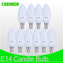 10pcs LED Candle light Bulb E14 Milky White Energy Saving Lamp 220V 3W 5W Led Bulbs Spotlight Chandelier LEDs for Decoration