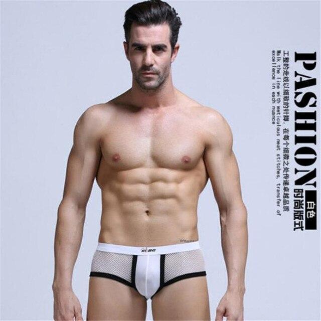 90f7cb5de4 US $5.57 5% OFF|AIBC 1 PCS Cool Refreshing Men Underwear Boxer, Sexy Men  Boxers Shorts, Mesh Sheer Mens Shorts, Brand Mesh Panties Board Shorts-in  ...