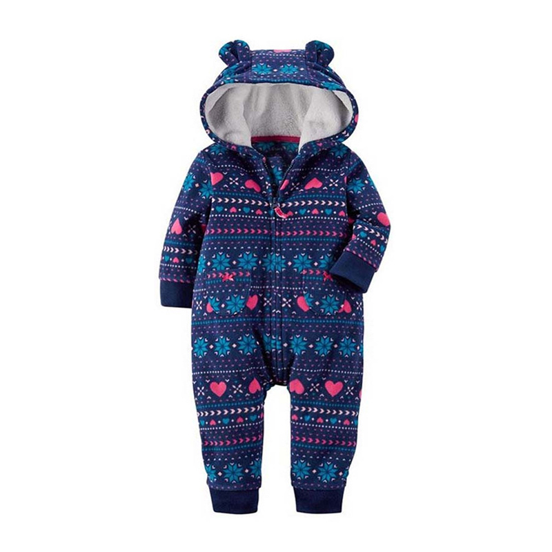 Baby Winter Clothes Baby Boys Infantil Romper Girl Newborn Clothing Long Sleeve Hooded Jumpsuit Onepiece Roupa Infant Jumpsuit 2016 bebe rompers ropa pink minnie hoodies newborn long romper baby girl clothing roupa infantil jumpsuit recem nascido