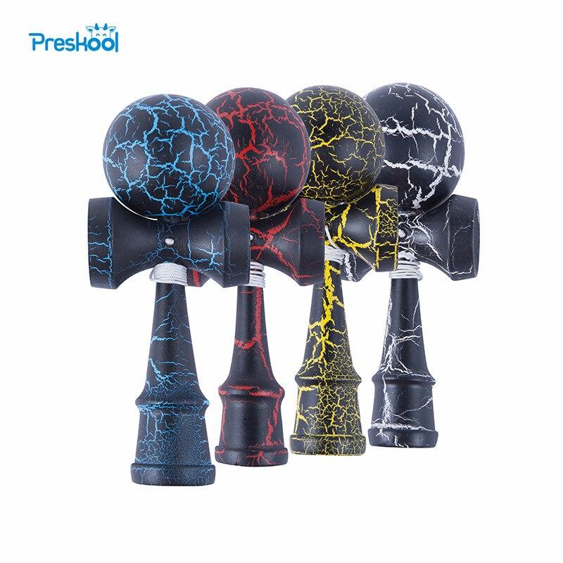 Attraktive Kendama 18,5 cm Lustiges Japanisches Traditionelles Holz Spielzeug Kendamas Ball Bunte PU Farbe holzspielzeug