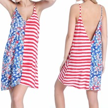 2016 NEW Casual Sexy Deep V Halter Straps Rayon Seaside Resort Beach Dress Summer Clothing Colorful M/L/XL Size