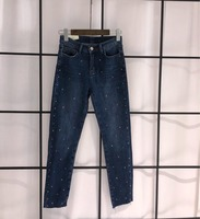 The new enamel diamond drill original single jeans 19SS latest fashion models 0308