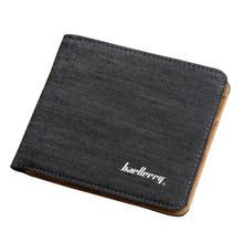 Hot Sale Fashion Men Wallets Quality Soft Linen Design Wallet Casual Short Style 3 Colors Credit