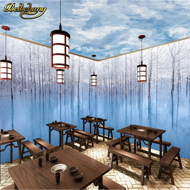 Beibehang Snowy Wood Theme E Whole House Background Mural Wallpaper Bedroom Tv Wall Paper Home