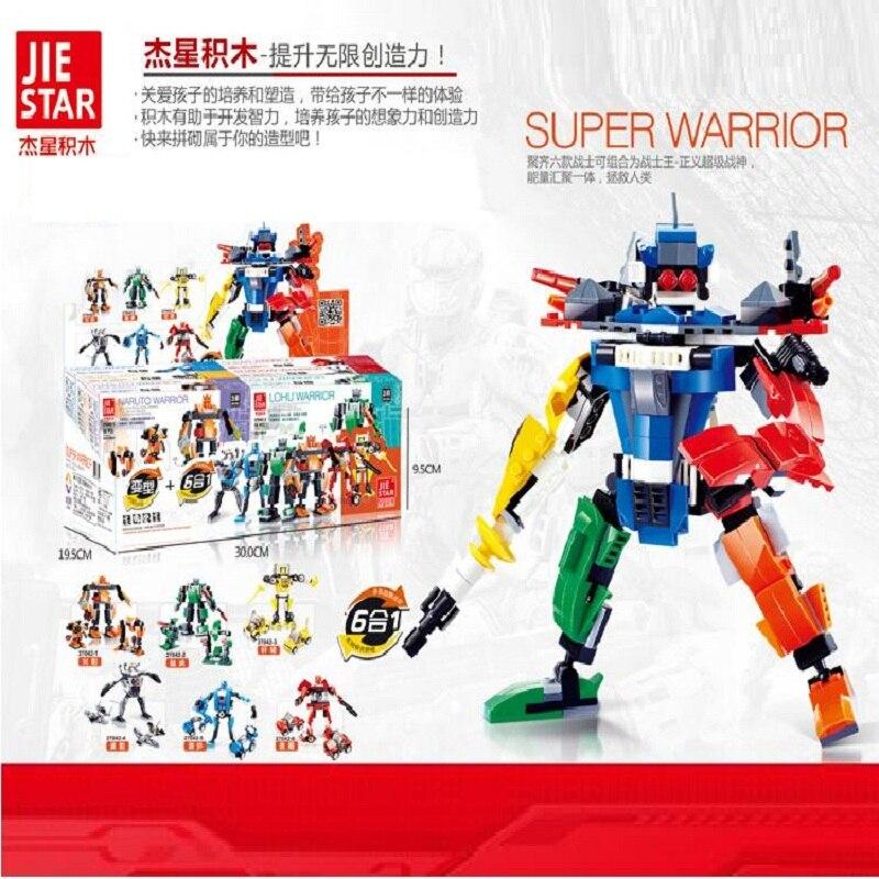 ФОТО 407pcs super heroes mecha ares building blocks 6boxes/set birthday present toys for children christmas gift
