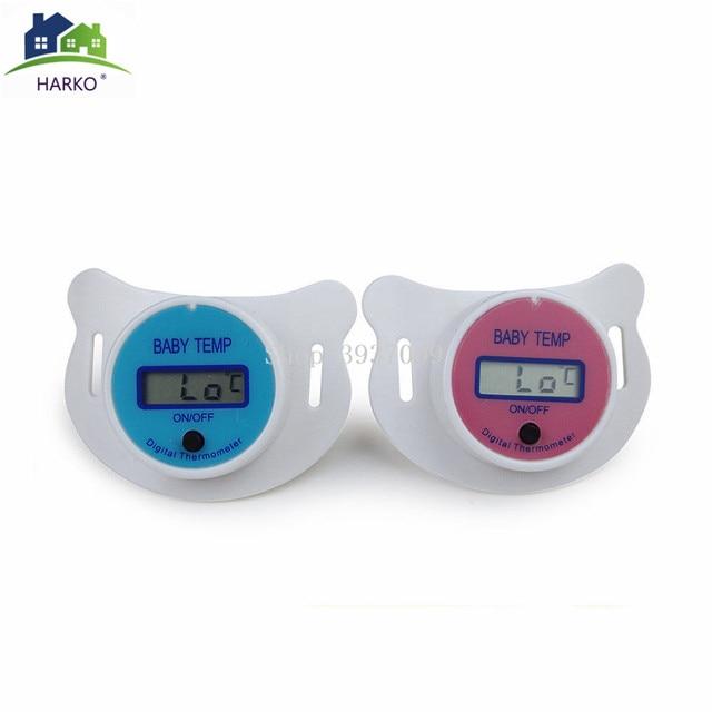 Termómetro Digital para pezón para bebé chupete de silicona médico termómetro LCD para cuidado de la salud para niños 3