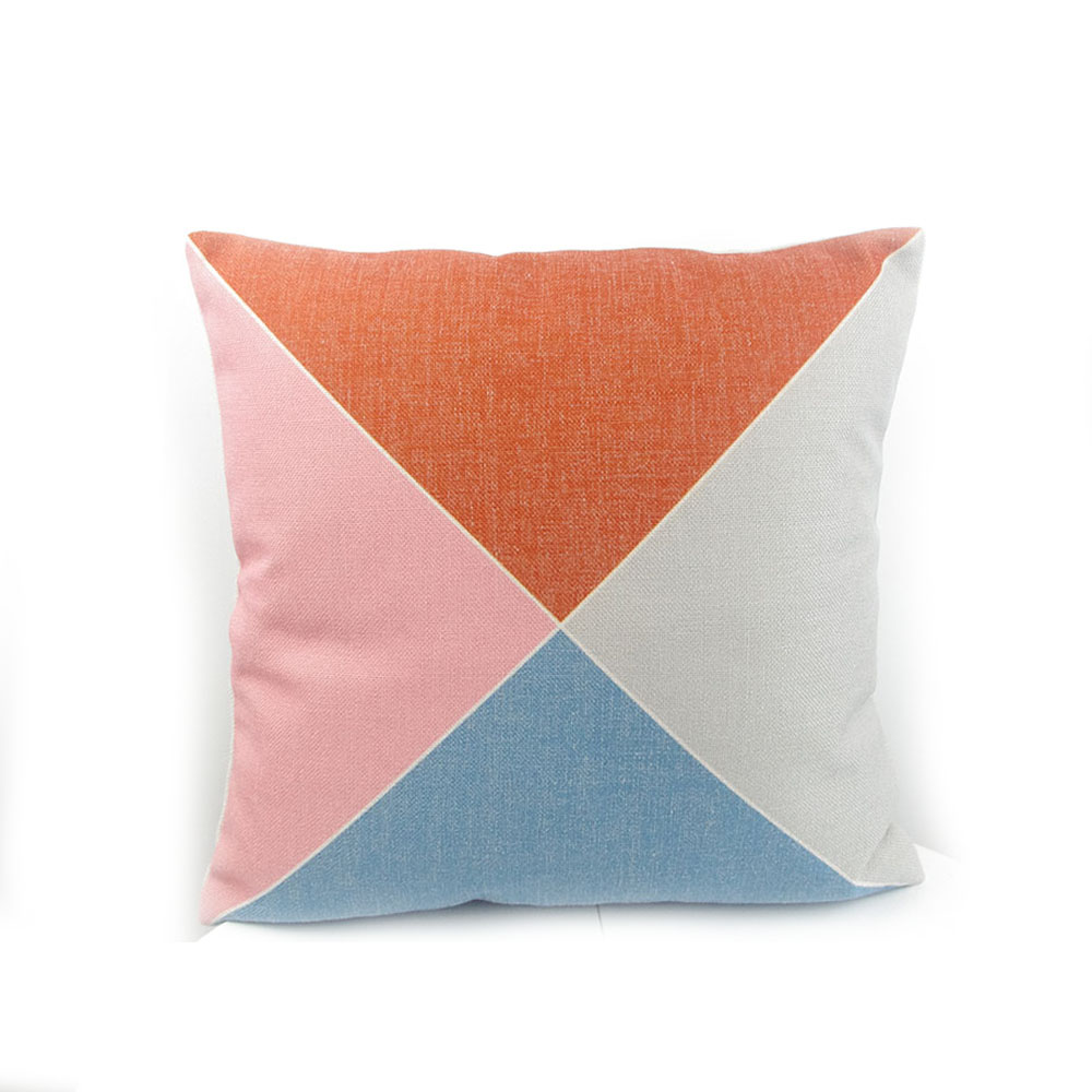 High-end digital print geometric pattern pillow case cushion cover throw factory direct sell