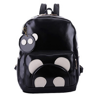2015 New Arrival High Quality Microfiber Leather Backpack Student Fashion Packet Contrast Color Outdoor Leisure Bag