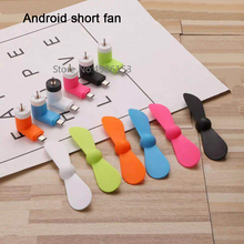 Popular mini carry L-type electric fan Android plug summer cool fan low power environmental protection material fan