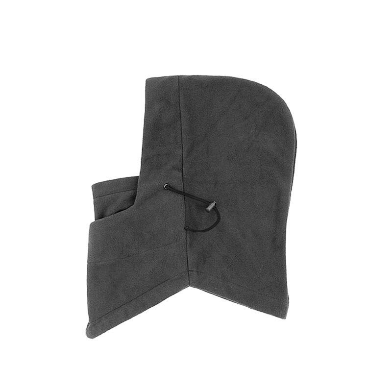 SUOGRY Thermal Fleece Balaclava Hat Hooded Neck Warmer Winter Sports Face Mask for Men Bike Helmet Beanies Masked cap 3
