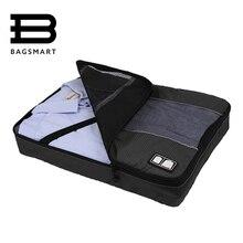 BAGSMART мужские нейлон багажа дорожные сумки для рубашка легкая упаковка Организатор одежды упаковка багажа куб чемодан