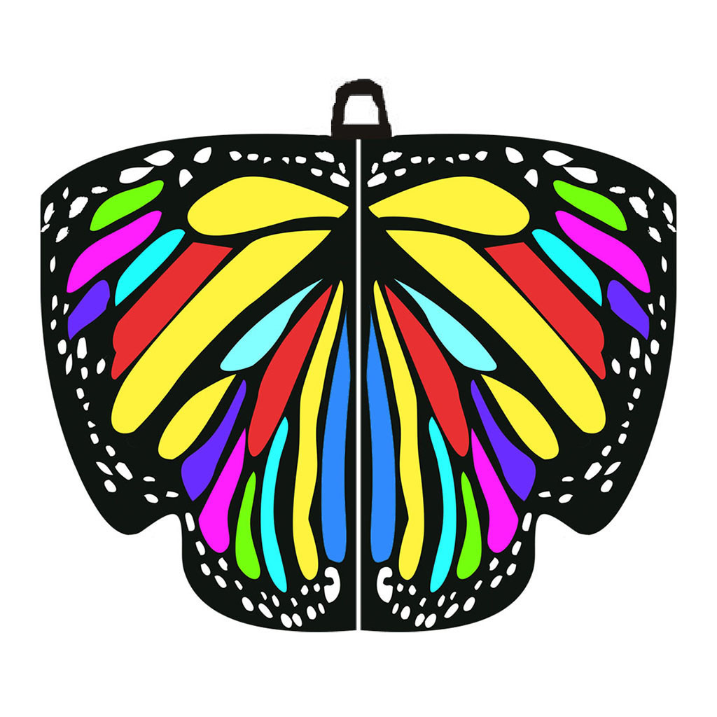 Creative Colorful Beautiful Women Butterfly Wing Cape Scarf Shawl Neckerchief AU