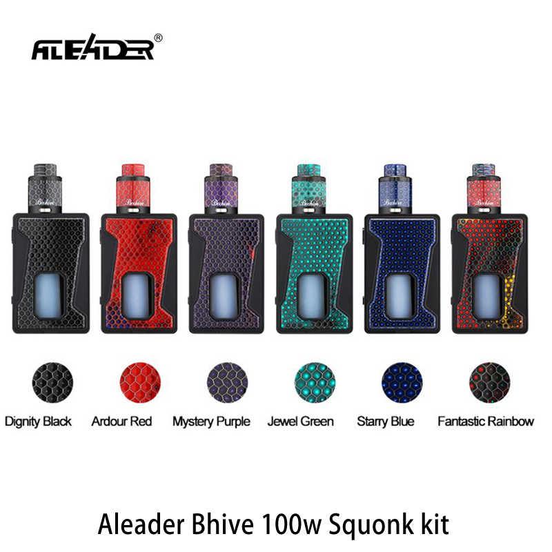 オリジナル Aleader Bhive BF sqounker mod キット 100 ワットと rebuildable RDA 吸うタンクアトマイザー電子タバコキット対 sqounker mod