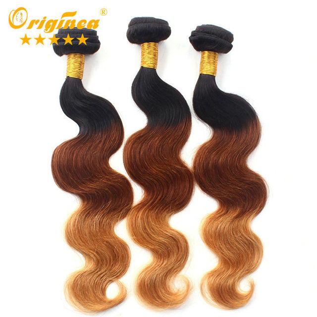 Filipino Ombre Hair 7a Three Tone Ombre Color Hair Bundles Weave