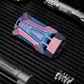 Limited Edition Ausrüstung EDC Outdoor Camping Drei Rohre TC4 Titan Legierung Überleben Pfeife High frequenz Sonic Boom Pfeife