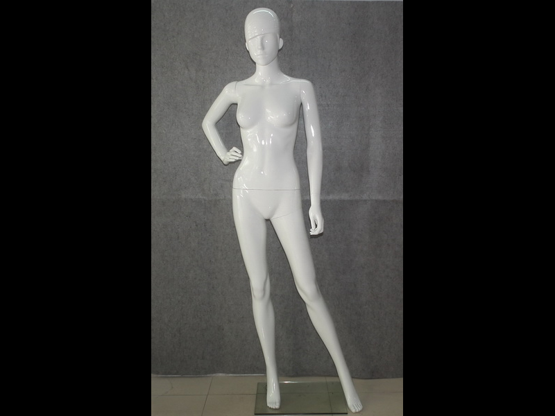 PP plastic female graving face abstract head lusterless mannequin for showcase mannequin