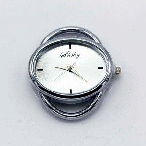 Image 3 - Shsby cá tính Tự Làm hình bầu dục Vàng bạc Xem tiêu đề vòng tròn dây bảng lõi watchband phụ kiện Đồng Hồ bán buôn