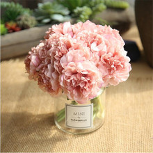 Artificial flowers peony bouquet home decoration crafts fake hydrangea for wedding
