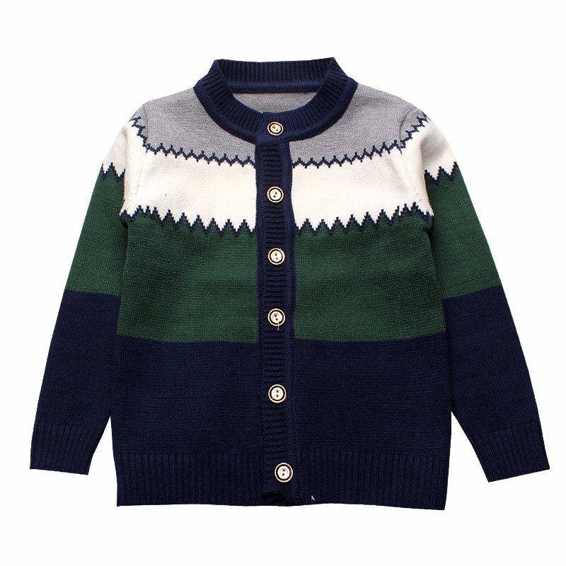 2016 Boys Sweaters Striped Cotton Top Knit Infant Outfit With Button Boy Tee Winter Warm Outerwear Cute Kids Clothes Cardigans (6)