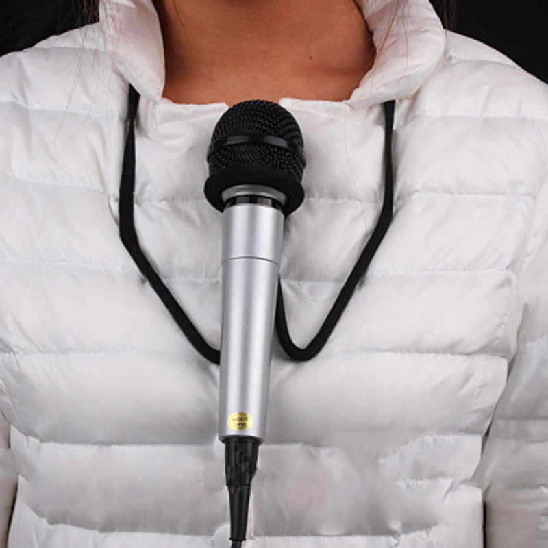 Microphone Hands Free Brace- Magic Tricks Prop Stage Mic Holder Neck Stand Magic Props Magic Accesiores 81087