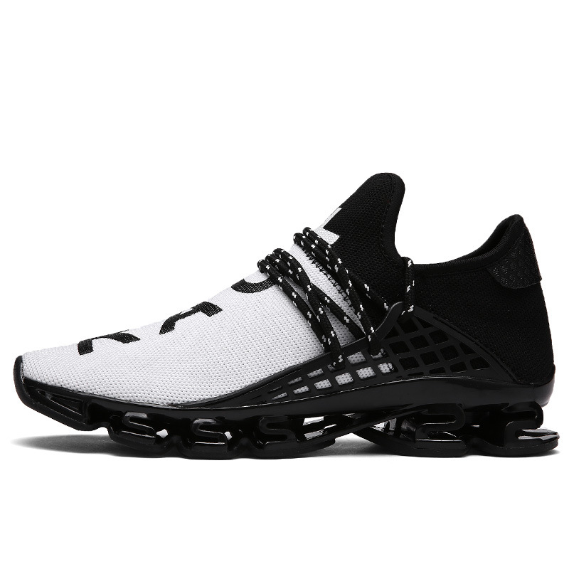 2018 Mens Air Cushion Shoes Flying Woven Breathable Soft Trend Mens Comfort Casual Shoes