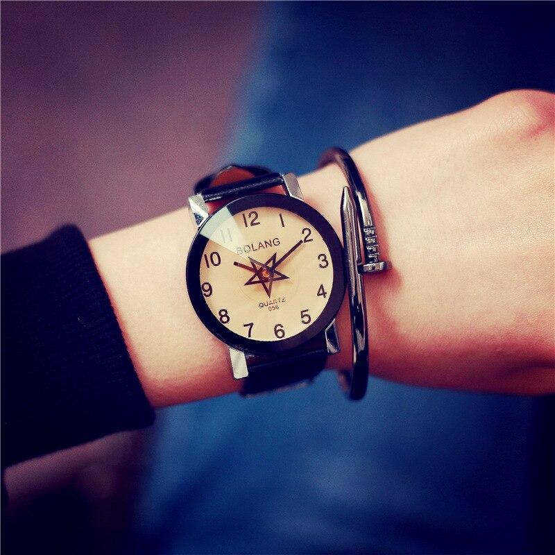 2017 New Hot Sale Brand Magic Star Black White Analog Quartz Bracelet Watch Wristwatches for Women Girls Men Lovers singular bulbs magic props white silver black