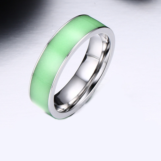 Green Silicone Luminous Mood Glow in the Dark Rings Womens Men