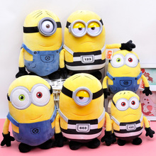 30cm Kawaii Minions Stuffed Soft Plush Toys Dave,Stewart with 3D Eyes Despicable Me 3 Plush Dolls for Children